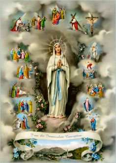 Novena To Our Lady of Lourdes February Each Day Pray Be blessed, O most pure Virgin, for having vouchsafed to manifest your s. Mama Mary, Catholic Art, Catholic Saints, Religious Art, Religious Icons, Catholic Store, Catholic Prayers, Roman Catholic, Religious Pictures