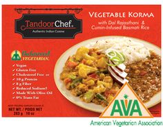 Balanced Vegetarian Vegetable Korma with Dal Rajasthani and Cumin-infused Basmati rice from Tandoor Chef - Certified Vegetarian!