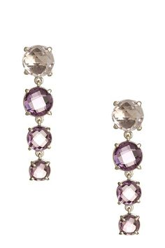 amethyst graduated earrings