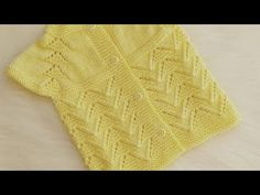YAKADAN BAŞLAMA EN KOLAY AJURLU YELEK - YouTube Knitting For Kids, Baby Knitting Patterns, Crochet Baby, Lace Shorts, Pullover, Sewing, Sweaters, Anime, Fashion