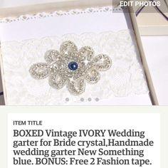 Something blue beautiful garter lovely packed with BONUS