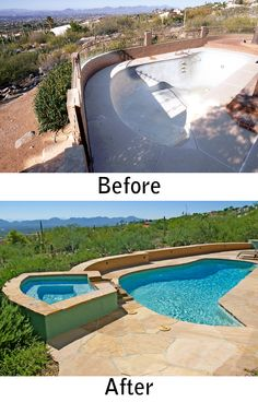 Tucson Pool Renovation And Spa Addition By Patio Pools And Spas.