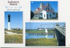 Sullivan's Island Postcard - Google Search Sullivans Island South Carolina, Mansions, Charleston Sc, House Styles, Beach, Google Search, Manor Houses, The Beach, Villas
