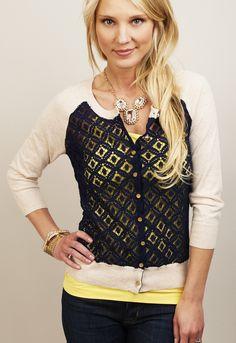 CHARLOTTE TARANTOLA: Lace Polka Dot Cardy #shopmama #cardy #summer #polkadot #Lace