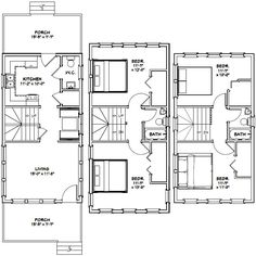 16x30 House -- #16X30H17 -- 1,375 sq ft - Excellent Floor Plans