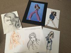 Fashion drawing by Tanya Sanelli. #fashiondrawing #artwork #studentart #illustration #fashion #portraits #copicmarkers #gauche #style #sketch #fashionart