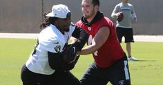 Watch Marshawn Lynch carve through the Raiders defense for a TD in practice