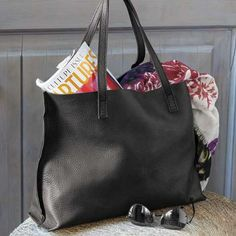 Luxe Noir Leather Tote