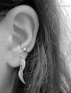 Perfect Conch Piercing With Ball Closure Ring