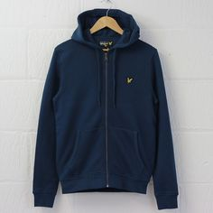Lyle and Scott Zip Through Hoodie (Petrol) – New-Entry Clothing #lyleandscott #lyle #scott #british #menswear