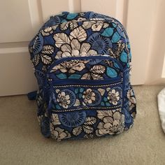 Very Bradley backpack! Gently used but in great condition! A small bit of discoloration on the one strap (in picture above) 1 large compartment and 3 smaller ones! Price is firm Vera Bradley Bags Backpacks