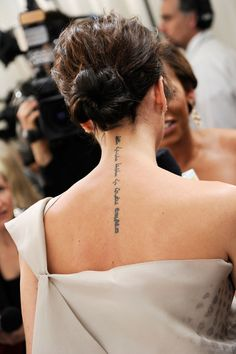 Victoria Beckham's Bible Verse Tattoo — Love this placement