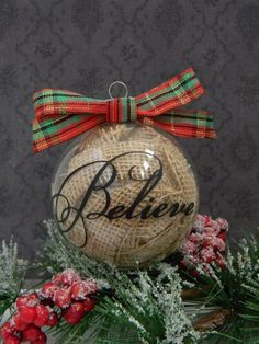 35 Rustic DIY Christmas Ornaments Ideas Cute idea for an ornament and easy to make!