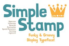 Simple Stamp Font by Youhhou on Creative Market