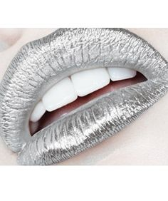 Silver lip foil. Would this be too extreme for taking my nephew trick-or-treating?