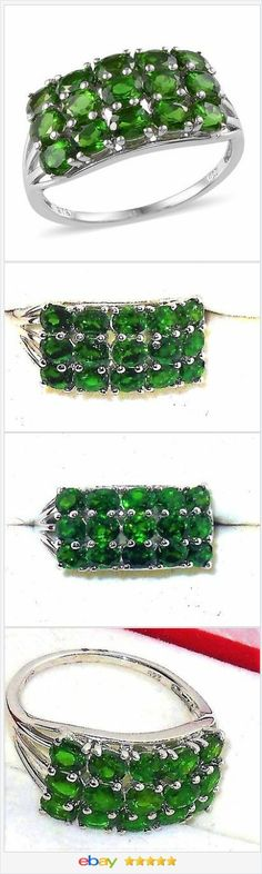 Russian Chrome Diopside ring 3.50 carats size 9 USA SELLER  50% OFF #ebay http://stores.ebay.com/JEWELRY-AND-GIFTS-BY-ALICE-AND-ANN
