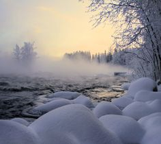Winter rapids by *KariLiimatainen on deviantART
