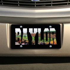 Baylor Bears McLane Stadium License Plate