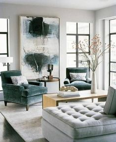 Extra large wall art artwork paintings, Very large paintings, Large living room canvas, Extra large wall decor,Huge abstract paintings - Living room inspiration - Chair Design Elegant Living Room, Living Room Grey, Living Room Modern, Interior Design Living Room, Living Area, Living Room Elle Decor, Color Interior, Luxury Interior, Antique Interior