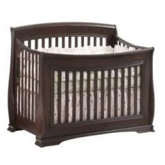 Natart Bella Convertible Crib in Cocoa - Natart is a Greenguard Certified manufacturer, Low VOC cribs & furniture - solid wood construction - Made in Canada Nursery Furniture Collections, Baby Nursery Furniture, Kids Furniture, Nursery Ideas, Modern Baby Cribs, Baby Bassinet, Convertible Crib, Headboards For Beds, Baby Store