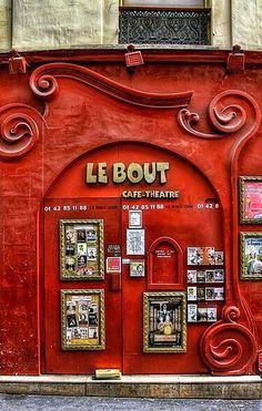 Paris - art nouveau facade of Le Bout - cafe/theatre Oh Paris, I Love Paris, Paris Cafe, Montmartre Paris, Café Theatre, Places To Travel, Places To Go, Graffiti Artwork, La Rive