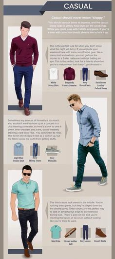 Casual Dress Code The Effective Pictures We Offer You About Mens Classy Style casual A quality pictu Mens Style Guide, Men Style Tips, Business Casual Men, Men Casual, Smart Casual, How To Wear Joggers, Fashion Infographic, Dress Code Casual, Man Dressing Style