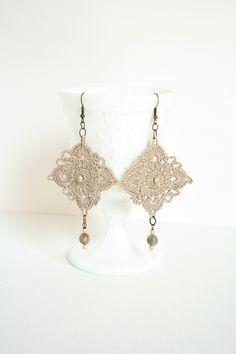 Linen Crocheted Earrings inspiration