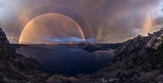 Double Rainbow, Crater Lake National Park, Oregon. Photo by Jasman Singh Mander.