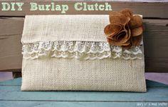 Burlap Clutch Bag: A Tutorial