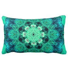 Mint Green Coral Lumbar Pillow