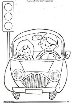 Child Coloring: Drawing precious moments with traffic