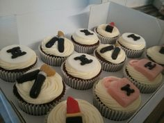 Chanel & make up themed cupcakes