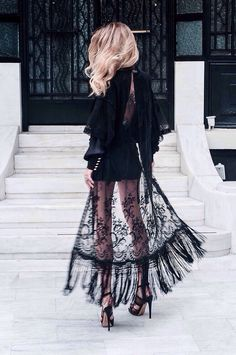 Gorgeous black lace gown