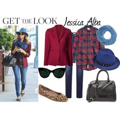 """Get The Look - Jessica Alba"" by reneeward400 on Polyvore"