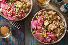 Recipe: Cumin-Sichuan Shrimp Fried Rice with Bird's Eye Chile & Marinated Radish - Blue Apron