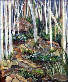 So, this is a mosaic- totally different medium,but I love the variety of colors and textures. Makes interesting and lovely contrasts.- beautifully detailed worth a closer look. Mosaic Tile Art, Mosaic Crafts, Mosaic Projects, Mosaic Glass, Mosaic Mirrors, Fused Glass, Mosaic Garden, Garden Art, Mosaic Pictures