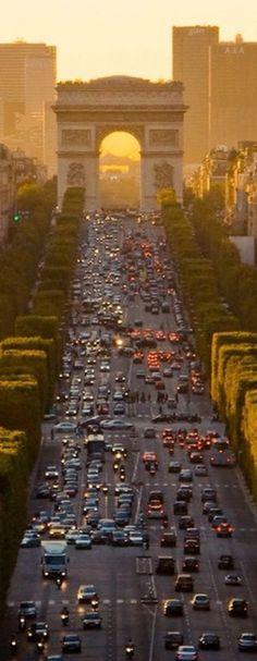 The Champs-Elysees to the Arc de Triumph - breathtakingly beautiful.