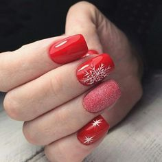 Most Vibrant Nail Designs For Christmas Xmas Nails, Christmas Nails, Nails 2018, Christmas Nail Designs, Hot Nails, Nail Decorations, Nail Tutorials, Winter Nails, Nail Art Designs
