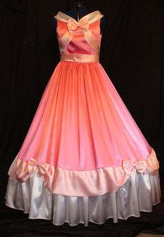 Adult Cinderella Pink Gown Costume Made By the Mice by mom2rtk
