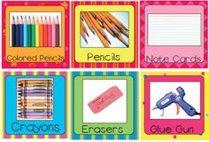 24 Free Labels for Classroom supplies