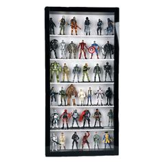 """Amazon.com: Action Figure Display Case - 3 3/4"""" Scale: Toys & Games"""