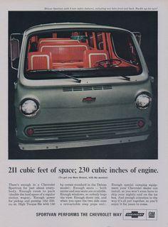 1966 Chevrolet Sportvan Ad Chevy Van Vintage by AdVintageCom