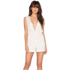 bohemian BONES Freebird Romper Rompers ($45) ❤ liked on Polyvore featuring jumpsuits, rompers, rompers & jumpsuits, white rompers, white jumpsuit, playsuit romper, white romper and white romper jumpsuit