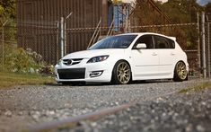 Not bad at all for a Mazda :b Mazda 3 Hatchback, Mazda 3 Speed, Bronze Wheels, Tuner Cars, Desktop Pictures, Japanese Cars, Car Wallpapers, Dream Cars, Honda