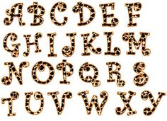 Free Printable Zebra Letters | Related Searches for leopard print letters