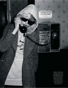 Another one of my favorite images for some reason. September 2009 Vogue Paris Blondie's Debbie Harry inspired editorial by Carolina Engman. One of my favorite spreads.