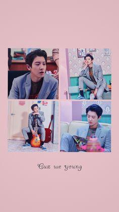 Chanyeol Cute, Park Chanyeol Exo, Kpop Exo, Kyungsoo, Exo Lockscreen, Kim Junmyeon, Kpop Aesthetic, Chanbaek, Hot Boys