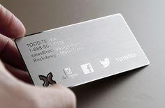 Fornecimento de grande quantidade de metal do cartão businesse