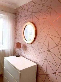 Zara Shimmer Metallic Wallpaper Soft Pink, Rose Gold (ILW980111) #awesomebedroomideas