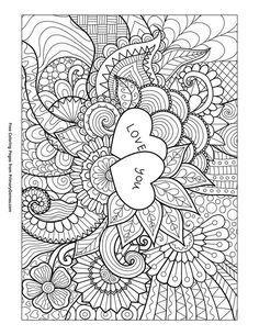 4 free adult coloring pages for Valentine's Day that will bring ...   305x236
